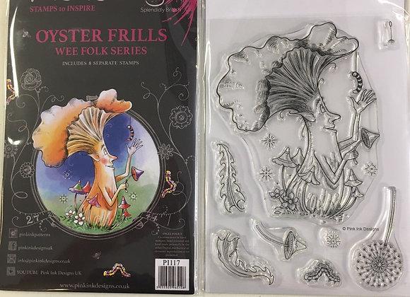 Pink Ink Designs Stamp Set -A6 - OYSTER FRILLS