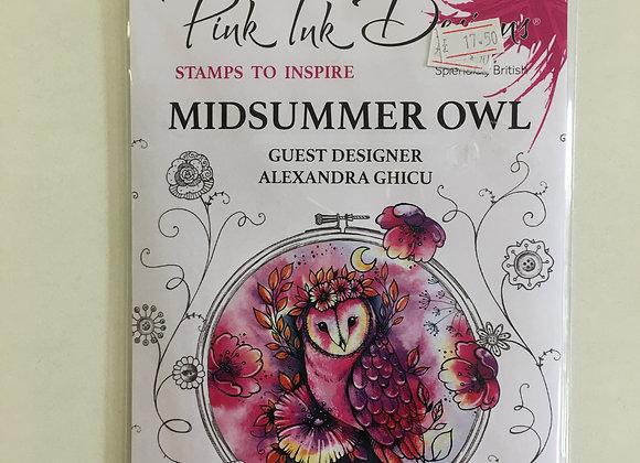 Pink Ink Designs Midsummer Owl Stamp Set