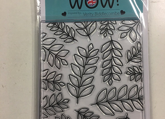 WOW CLEAR STAMP - FOLIAGE BACKGROUND OUTLINE - A6