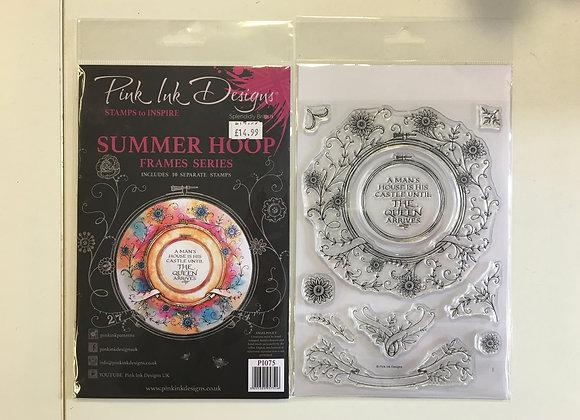 Pink Ink Summer Hoops Stamp Set