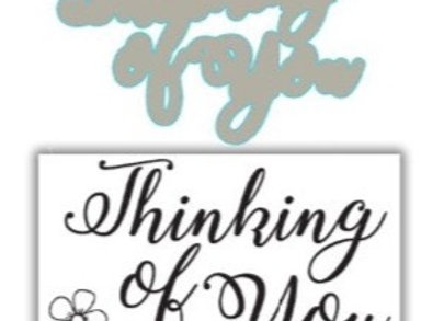 JHD Signature Thinking of You Stamp & Die Set