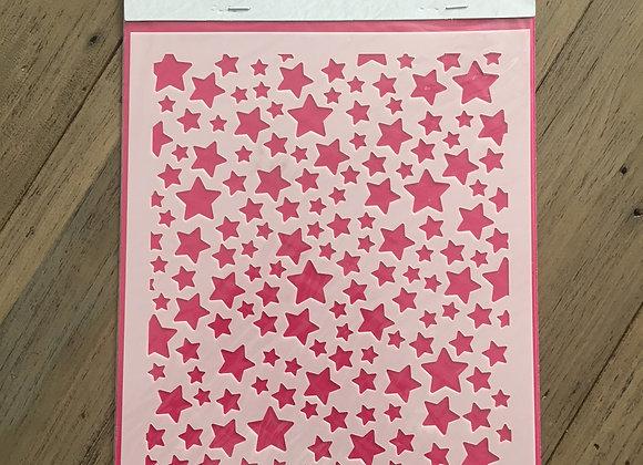 Nellie's Mixed Media Stencil - Stars