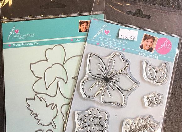Julie Hickey Designs- FLORAL  FANCIES STAMP  & DIE SET