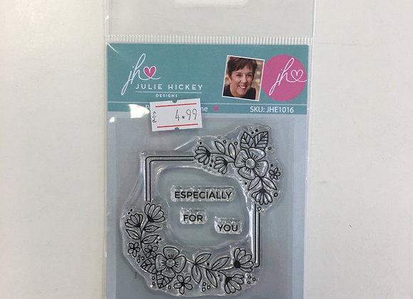 Julie Hickey Designs Petite Flower Frame Stamp