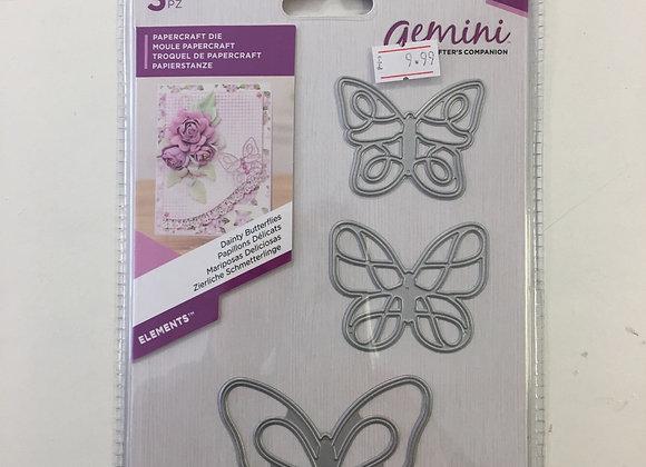 Gemini cutting dies - Dainty Butterflies