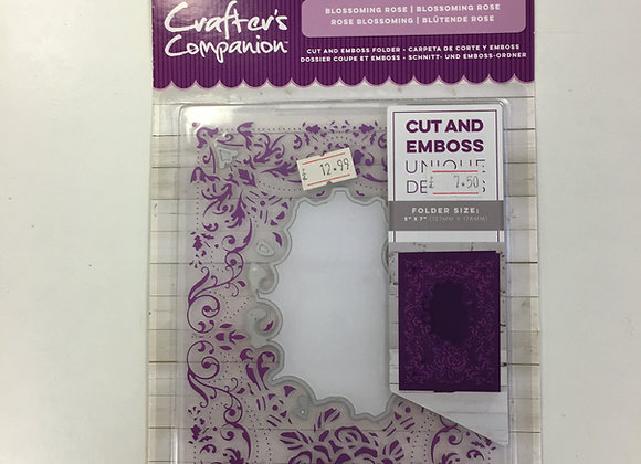 Crafters Companion Cut & Emboss Blossoming Rose