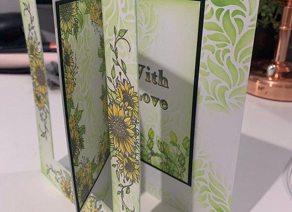 Online Workshop - 15cm x 42cm CARD FOLDS-4 CARDS