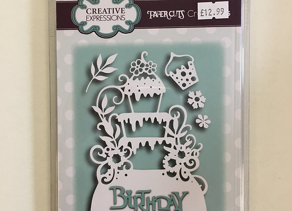 Creative Expressions paper cuts collection Birthday Cake