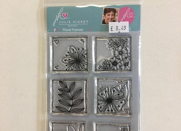 Julie Hickey Designs Floral Frames Stamp