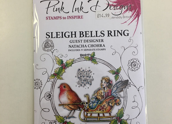 Pink Ink Designs Sleigh Bells Rings Stamp Set