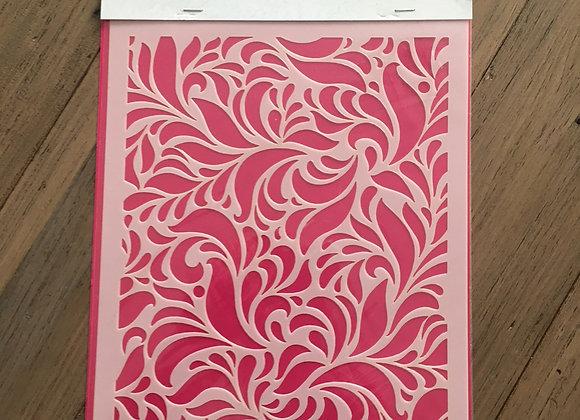 Nellie's Mixed Media Stencil - Swirls