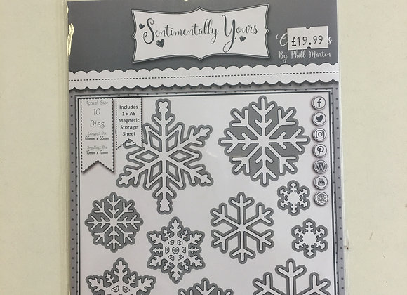 Sentimentally Yours Adornments Collection Snowflake Flurry