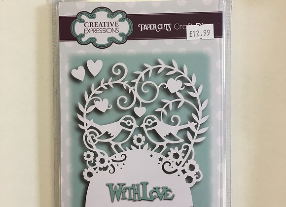 Creative Expressions paper cuts collection love birds