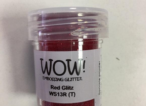 WOW EMBOSSING POWDER - RED GLITZ
