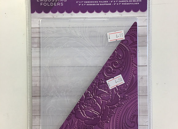 Crafters Companion 3D Embossing Folder - Love Blossoms