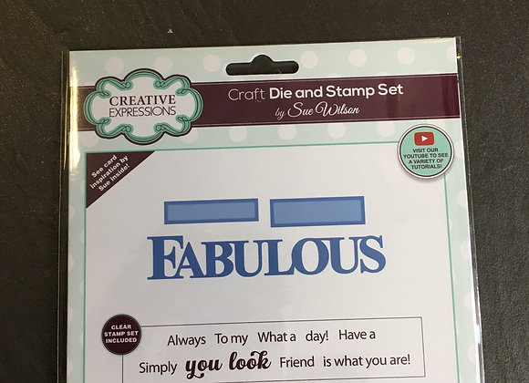 CREATIVE EXPRESSIONS - BOLD WORDS - FABULOUS