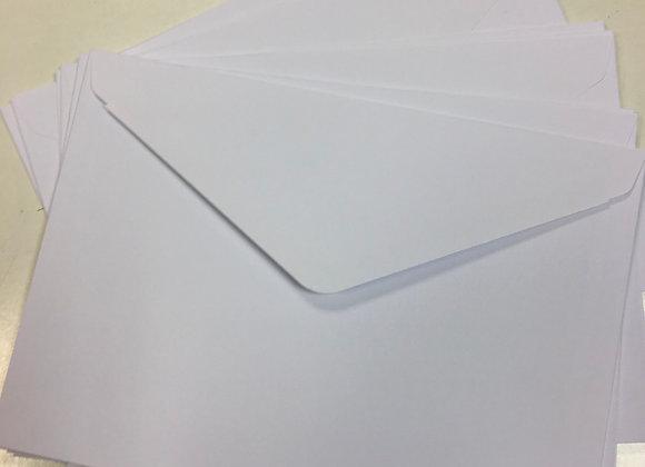 A5 WHITE Envelopes - x 25