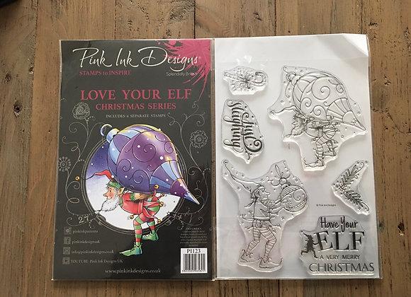 Pink Ink Designs Stamp Set -A5 - LOVE YOUR ELF