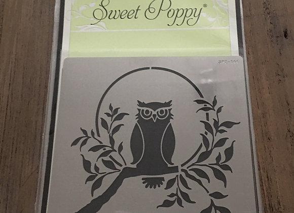 SWEET POPPY METAL STENCIL - OWL
