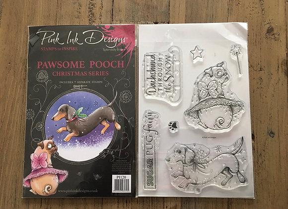 Pink Ink Designs Stamp Set -A5 - PAWSOME POOCH