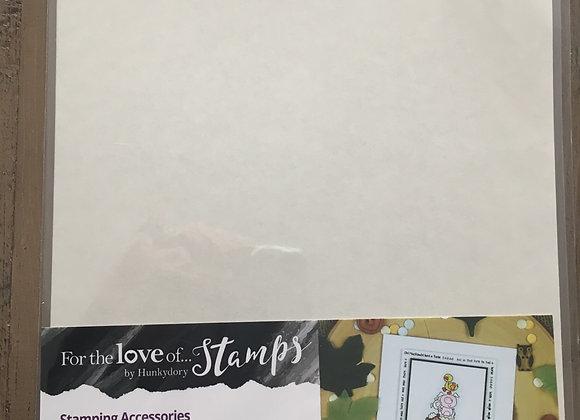 HUNKYDORY STAMPING MASKING SHEETS 3 x A4 sheets
