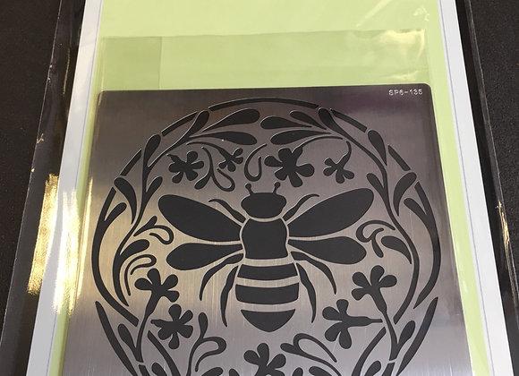 SWEET POPPY METAL STENCIL - BUMBLE BEE CIRCLE