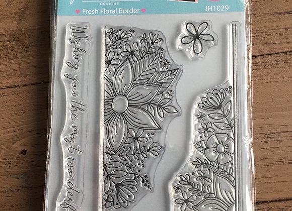 Julie Hickey Designs -  FRESH FLORAL BORDER STAMP SET