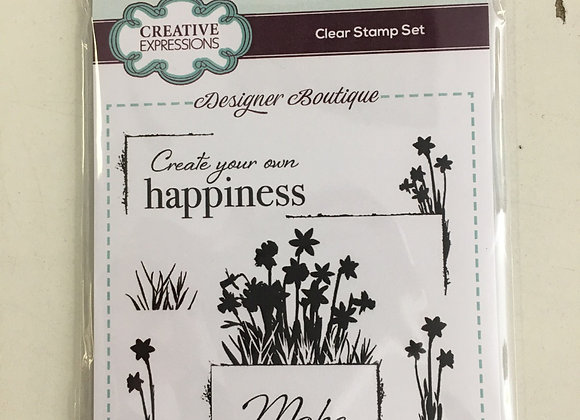 CREATIVE EXPRESSIONS A6 STAMP SET - DELICATE DAFFODILS