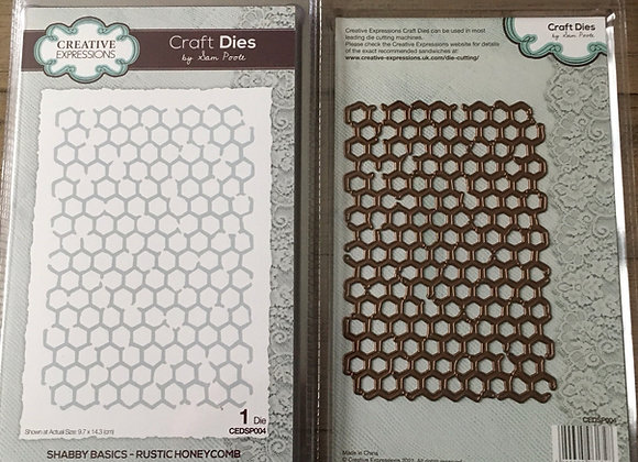 Creative  Expressions cutting die - RUSTIC HONEYCOMB