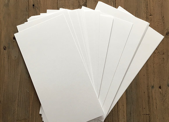 15cm x 30cm - Ice White Card - 50 Sheets