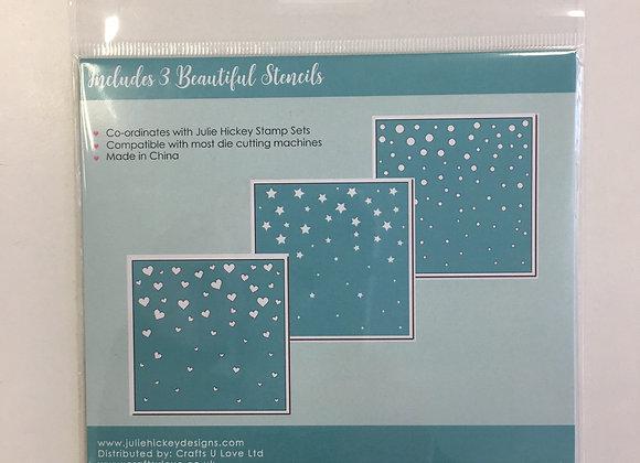Julie Hickey Designs Background Stencils- 3Pack