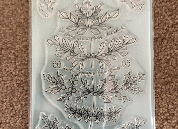 Julie Hickey Designs - A6 - OH CHRISTMAS TREE STAMP SET