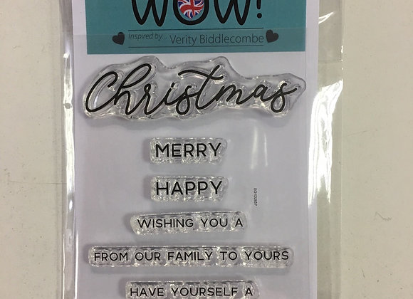 WOW STAMP SET - CHRISTMAS SENTIMENTS -A7