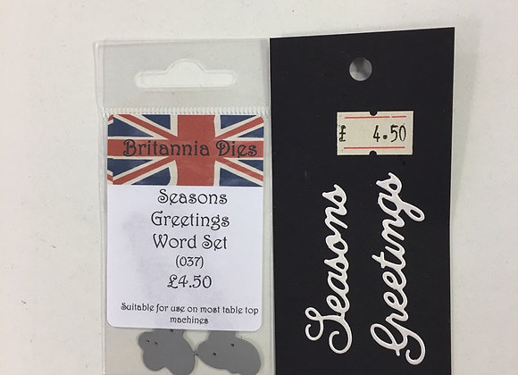 Britannia Dies SEASON GREETINGS Word Set