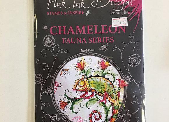 Pink Ink Designs Fauna Series - Chameleon Stamp Set