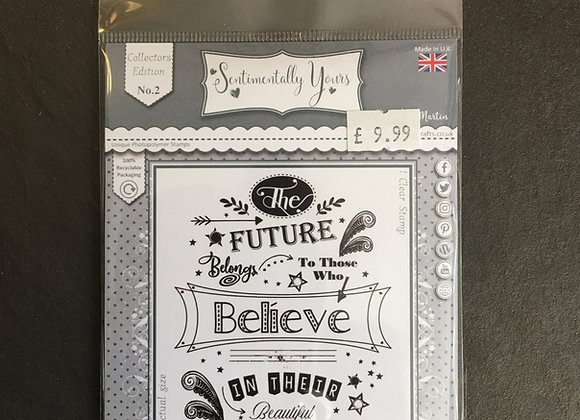 Sentimentally Yours  Believe Stamp set