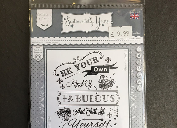 Sentimentally Yours  Fabulous Stamp set