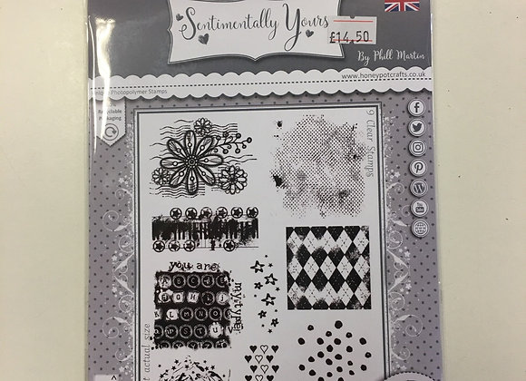 Sentimentally Yours  Textural Temptations Stamp Set