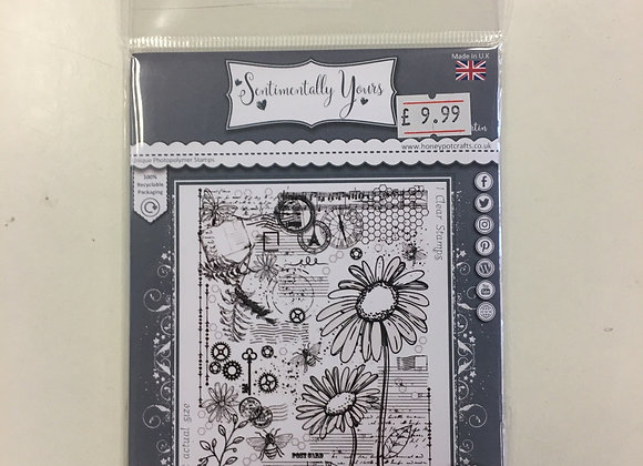 Sentimentally Yours Daisies Medley Stamp set