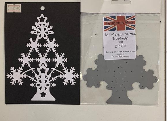Britannia Dies Snowflake Christmas Tree (large)