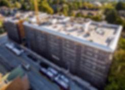 Arbora Court, a large apartment building under construction