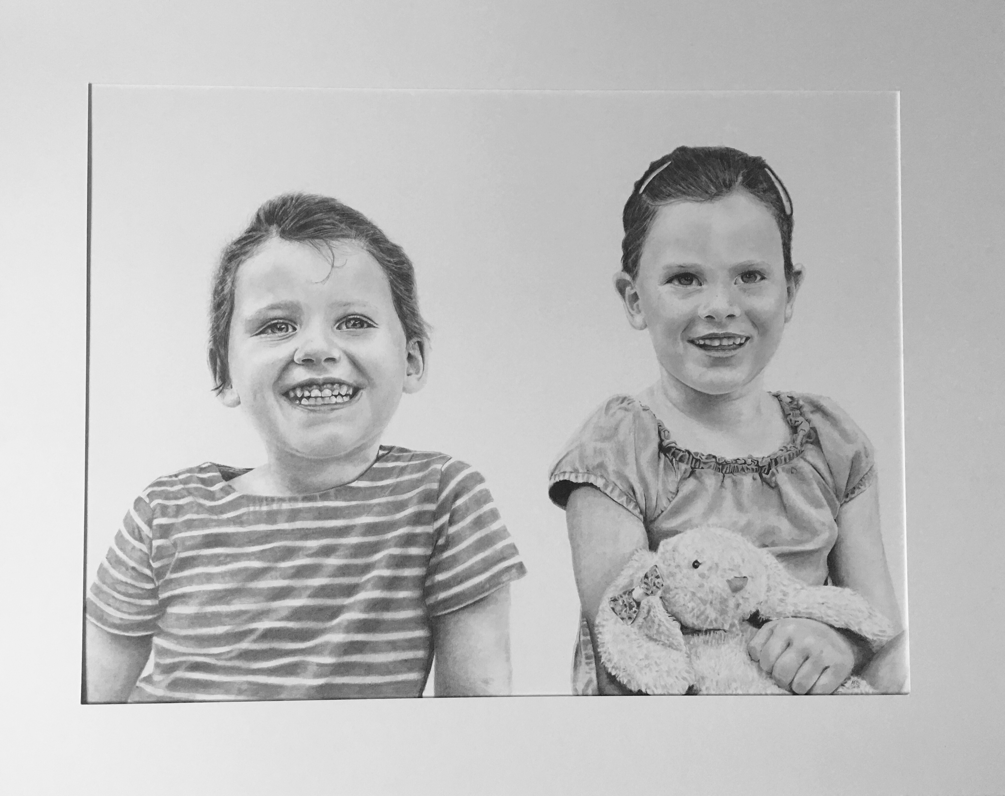 Two Girls drawing