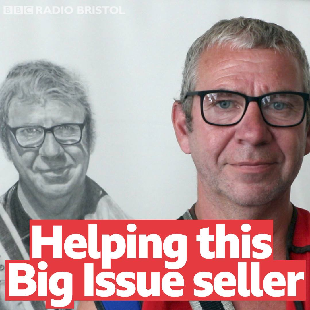 A £3,000 drawing to help this Big Issue seller!