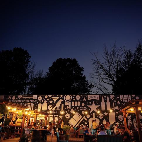 Beer Garden Mural