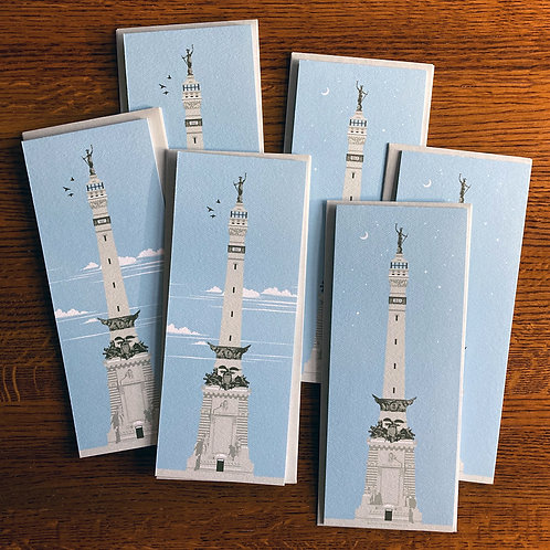 Monument Circle / 6 Blank Cards