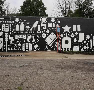 Black Acre Beer Garden Mural