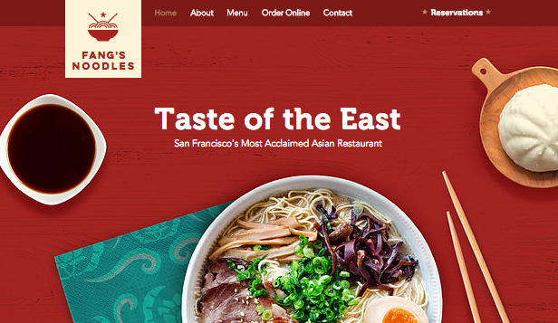Restaurant website templates – Asian Restaurant