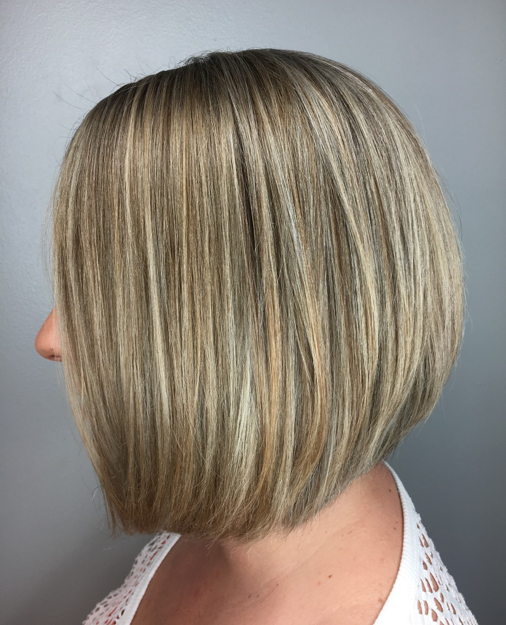 Full highlight, long bob