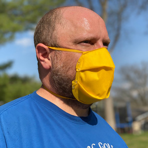 A Model Wearing An Oricool Facemask that Was Adjust for Proper Fitting