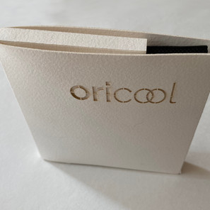 An Early Oricool Facemask Packaging Prototype